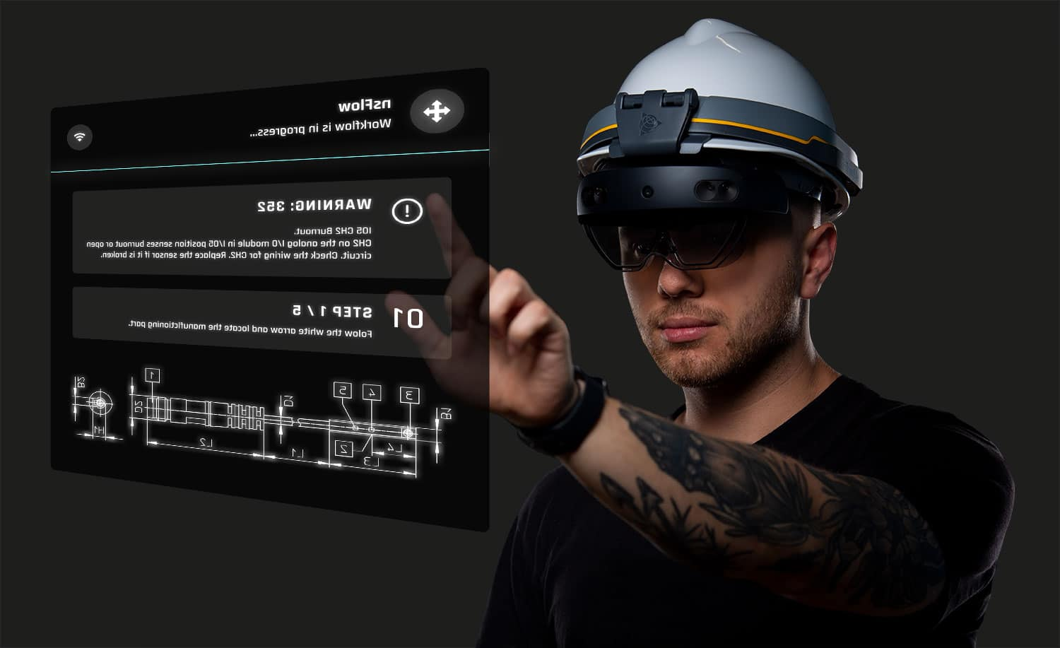 Augmented reality, nsflow, industry 4.0, AR