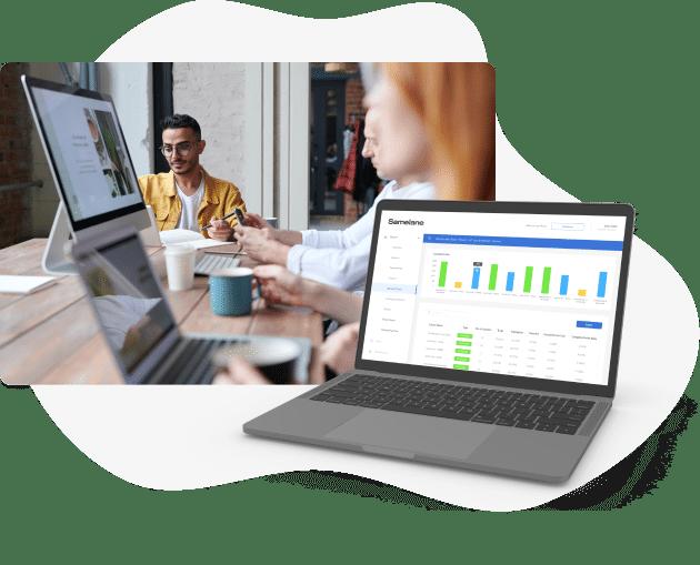 training learning evaluation reporting LMS Samelane